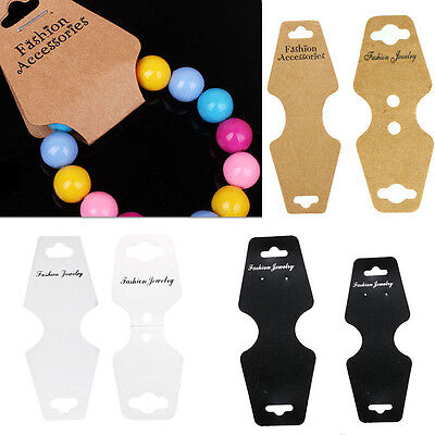 100X Jewelry Necklace Bracelet Hanging Holder Jewerly Display Paper Cards