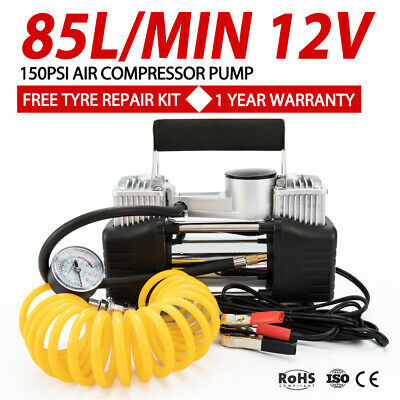 85L/MIN Car Air Compressor 150PSI Tyre Inflator Pump 4x4 Portable 12V