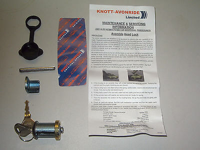 Genuine Knott-Avonride replacement coupling lock barrel to fit Ifor Williams
