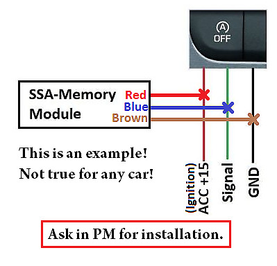 "Start Stop Memory module for cars  // SSA state memory or "" killer "" //"
