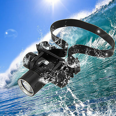 Underwater 100m 5000Lm XM-L2 LED Diving Headlight Headlamp Light Scuba Head Lamp