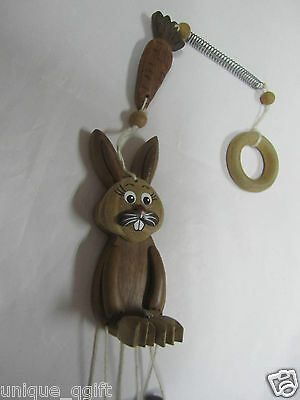 FOREST RABBIT RABBITS Wood Wind Chime Hanging Ornament Home Decor Us un030