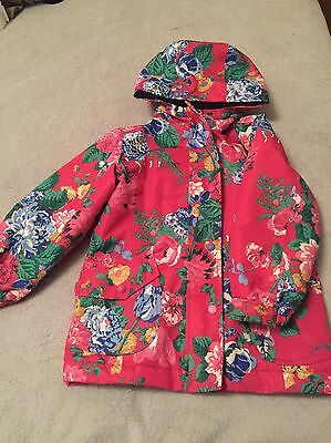 Girls Floral Joules Coat Age 5