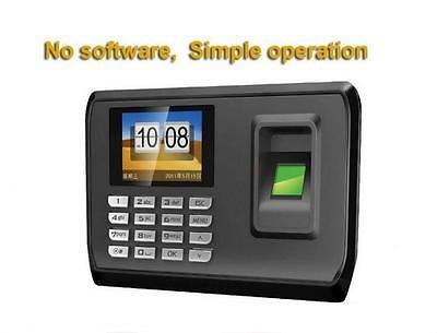Color Screen English Fingerprint Reader Time Attendance Machine With USB Port