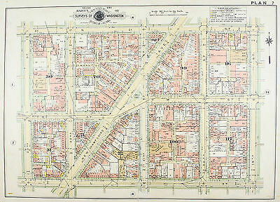 Washington DC New Hampshire Ave Vintage Baist City Map 1957 B
