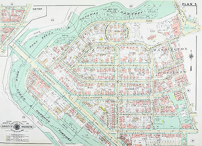 Washington DC Sheridan-Kalorama Vintage Baist City Map 1960