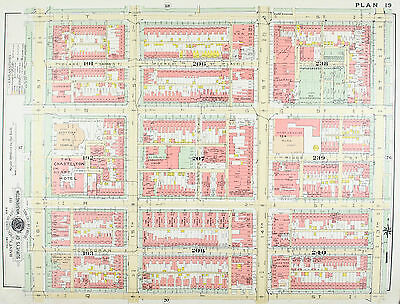 Washington DC Scottish Rite Temple Vintage Baist City Map 1957