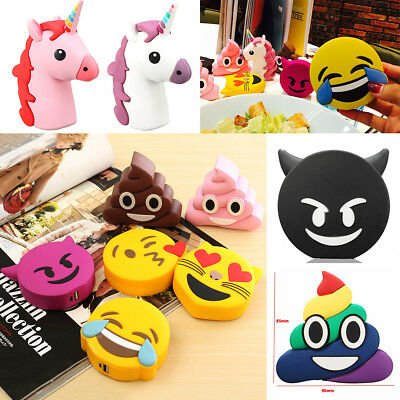 DIY Emoji Cartoon Cute Phone Power Bank Case Kit Charger Box For 18650 Battery