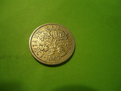 1962 English Six Pence               Combined Shipping
