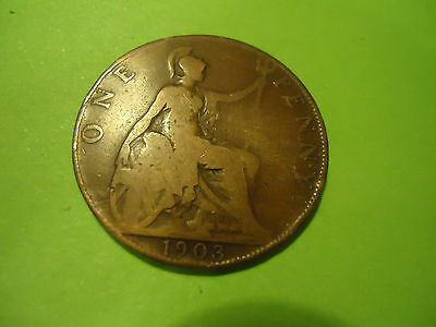 1903 English One Penny               Combined Shipping