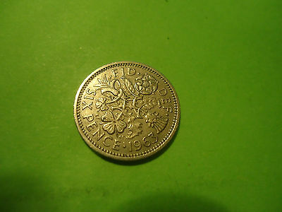 1963 English Six Pence               Combined Shipping