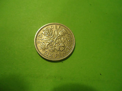 1960 English Six Pence               Combined Shipping