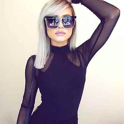 Designer Inspired Oversized Sunglasses Smoked Lens Square Frame Women Fashion