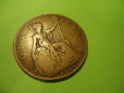 1915 English One Penny               Combined Shipping