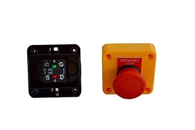 x 2 Emergency Stop, switch control electrical 12V 24V E stop