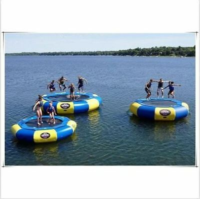 3-5M Diameter Inflatable Water Trampoline Bounce Swim Platform Lake Toy NEW
