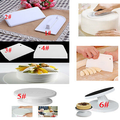 Fondant Tool Cream Butter Sugarcraft Scraper Cake Smoother Cake Turntable Stand