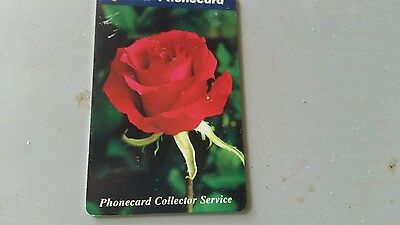 $5 phonecard  Rose from the phonecard Collector Service