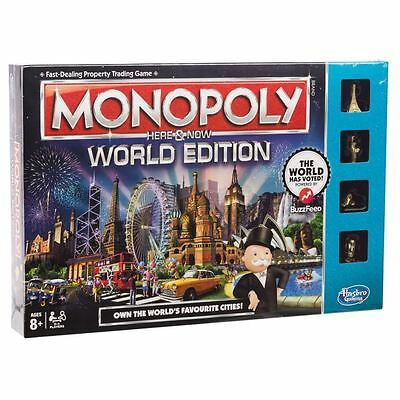 Monopoly Here & Now World Edition Board Game by Hasbro