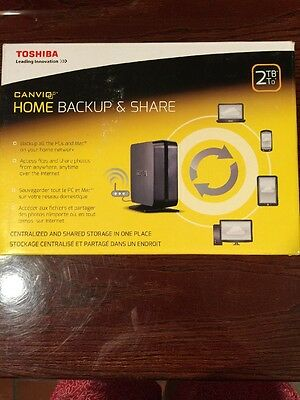 Toshiba Canvio Home Backup and Share 2TB  HDNB120XKEK1 New