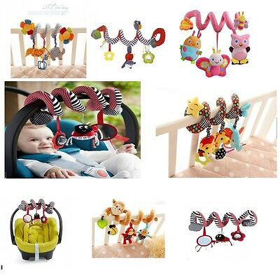 Kid Baby Crib Cot Pram Hanging Spiral Musical Gift Toys Soft Developmental Toy