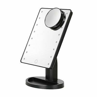 16 LED Light Illuminated Touch Screen Make Up Cosmetic Tabletop Vanity Mirror UK
