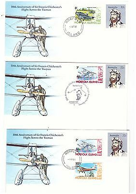 Norfolk Island 1981 Group of Covers   ( 3 Covers )