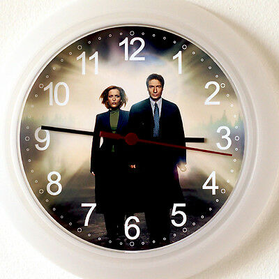 X FILES Wall Clock - NEW 24cm dvd TV Series Mulder Scully Believe Christmas Xmas