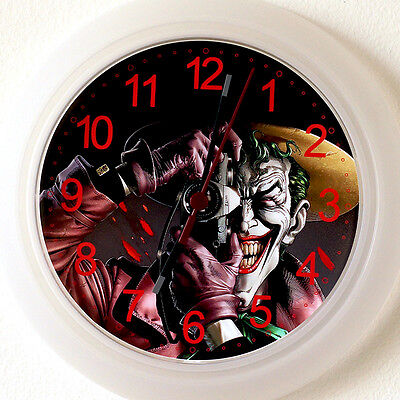 JOKER Wall Clock NEW -24cm Comic batman The Killing Joke Christmas Gift