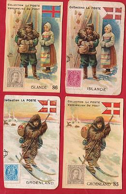 ISLANDE-Old images representing the old stamps of Iceland
