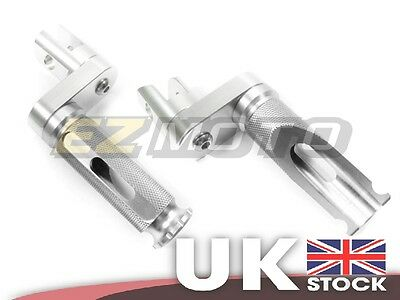 CNC Silver Hard Anodized Front Foot Pegs Rests Raised fit Yamaha VMAX 1200 1700