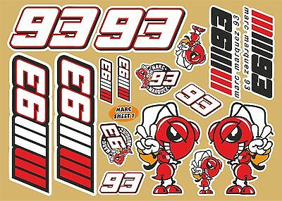 Marc Marquez assorted decal sheet No.1 of 14 quality printed stickers