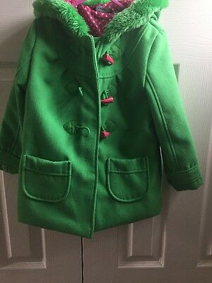 Green Duffle Coat  Girls Age 4-5 Mint Condition