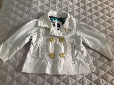 Girls White Gap Denim Jacket Age 2