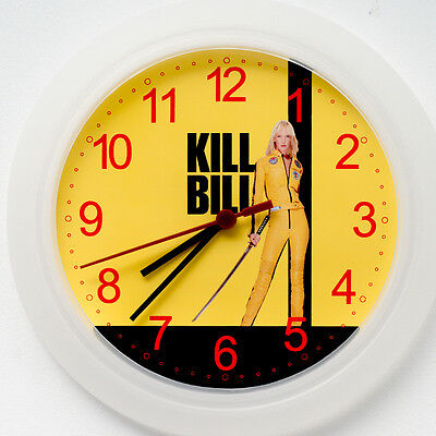 KILL BILL Wall Clock NEW - 24cm Uma Thurman Tarantino Christmas Gift