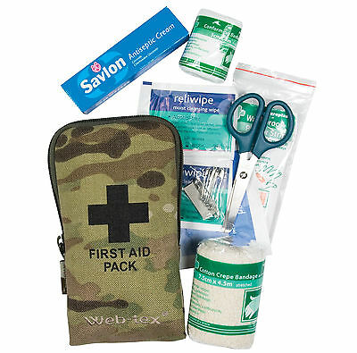 WEB-TEX MULTICAM FIRST AID KIT – compact british army mtp military camo soldier