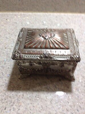 vintage cigarette box silver plated