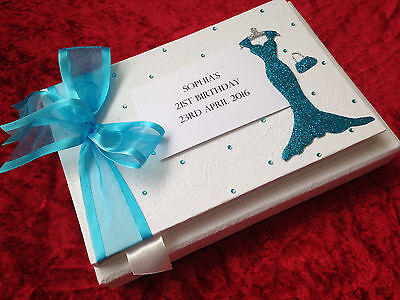 Personalised Birthday Guest Book Gift 18th 21st 30th 40th 50th 60th 70th