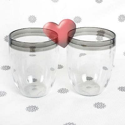 NEW Tupperware Table Collection Tumblers set of 2 Grey