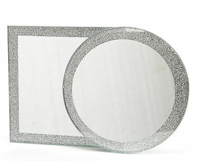 10cm Glass Mirror Plate Assorted Shapes ( ONE SUPPLIED )