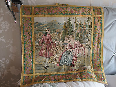 Vintage French tapestry wall hanging