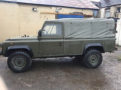 Ex Army Land Rover Defender 90 - Army Green, Soft Top, FFR Type