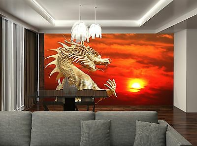 Chinese Dragon Wall Mural Photo Wallpaper GIANT DECOR Paper Poster Free Paste