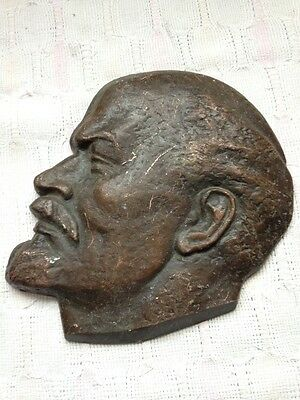 Soviet Era Lenin plaque, Perfect Sized, Hanging ready, Made in the CCCP USSR!