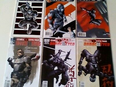G.I.JOE: SNAKE EYES x 6 COMICS LOT