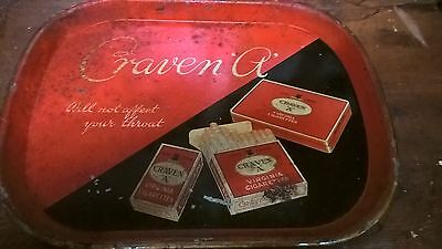Beer Tray Black Backed Craven A 1940's