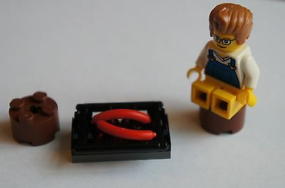 Lego Custom BBQ/Campfire, food and chairs - See photos - NEW - Lego City (CF20)
