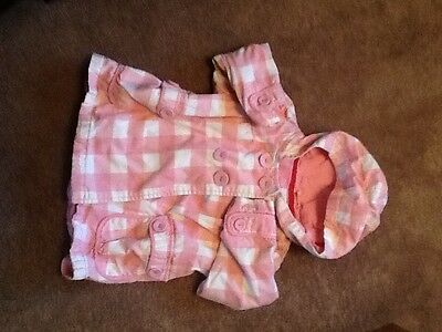Next girls pink checked jacket size 3-4years
