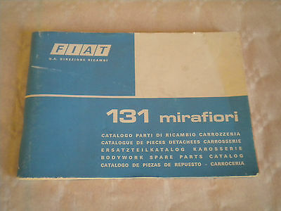 Vintage original factory body parts catalogue Fiat 131 Mirafiori 1975