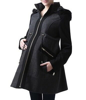 Maternity Hooded Coat
